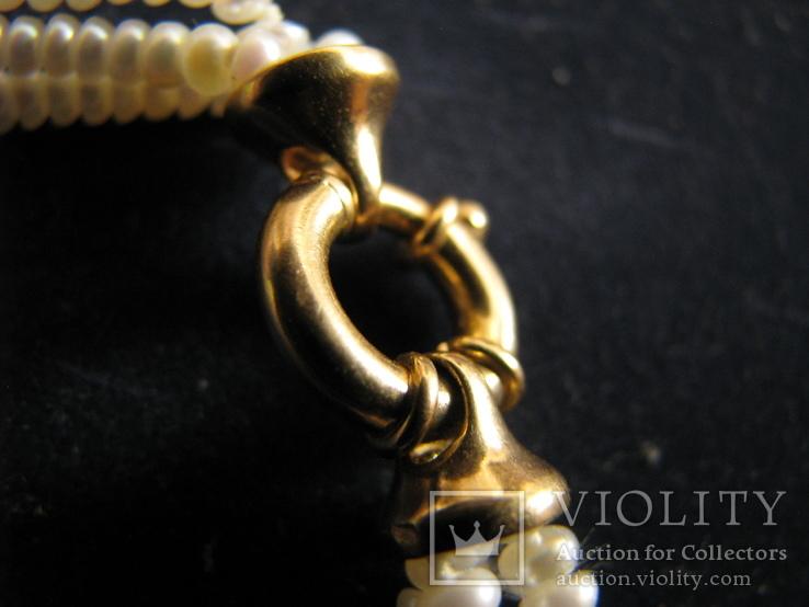 Браслет из жемчуга. Золото 750., фото №6