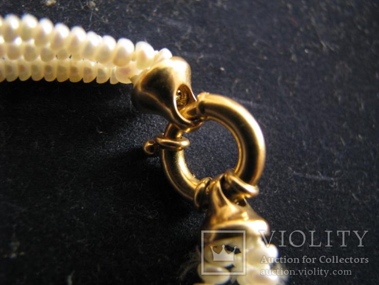 Браслет из жемчуга. Золото 750., фото №7