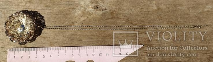 Крупный кулон, серебро, скань., фото №4