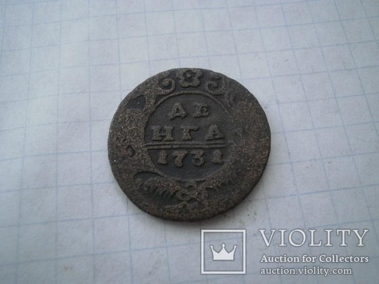 Росія 1731 рік дєньга., фото №2
