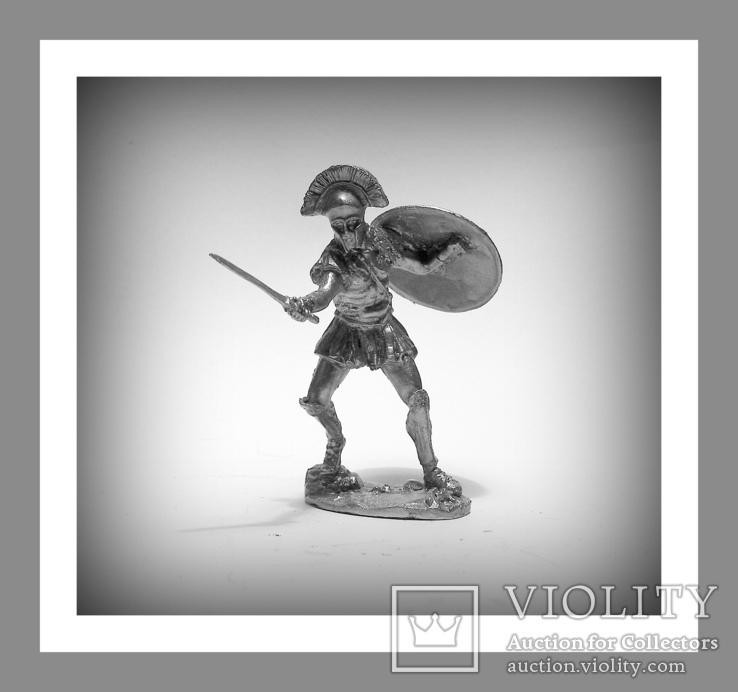 Игрушечные Солдатики Греческий Воин 5 Век до н.э. 54 мм Оловянные Cолдатики Миниатюры, фото №3