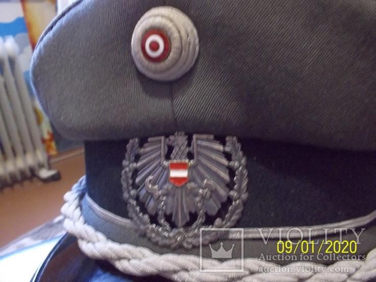 Фуражка  офицерская  австрийская  армия. раз. 56., фото №8