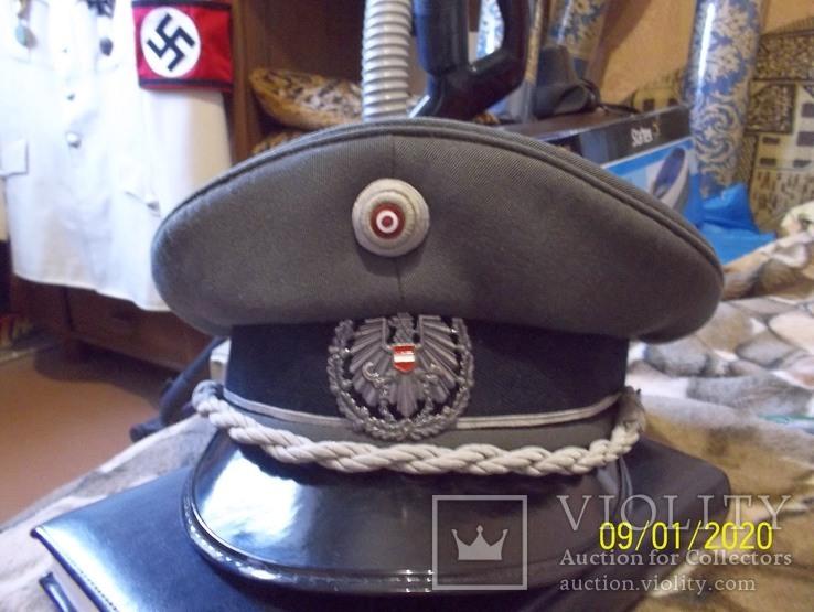 Фуражка  офицерская  австрийская  армия. раз. 56., фото №9