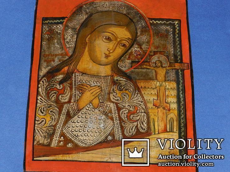 Ахтирская присвятая Богородица вис31см на 24.5 товщ 2см, фото №3