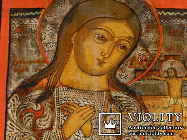 Ахтирская присвятая Богородица вис31см на 24.5 товщ 2см, фото №5