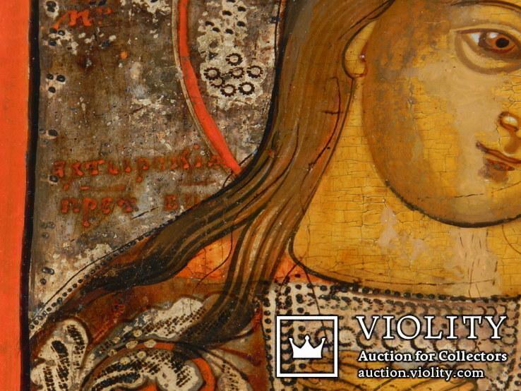 Ахтирская присвятая Богородица вис31см на 24.5 товщ 2см, фото №6