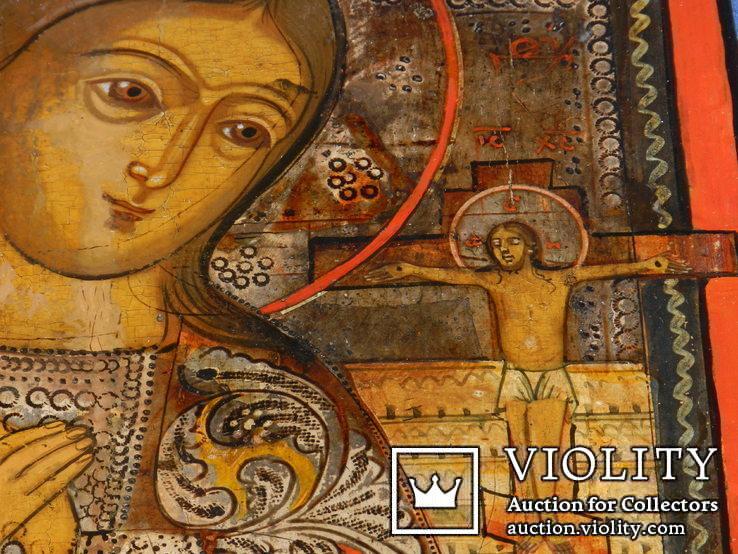 Ахтирская присвятая Богородица вис31см на 24.5 товщ 2см, фото №8