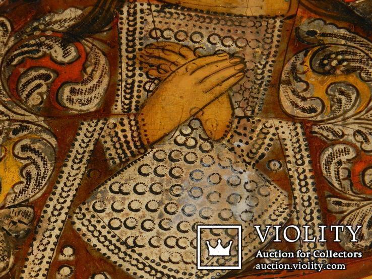 Ахтирская присвятая Богородица вис31см на 24.5 товщ 2см, фото №9