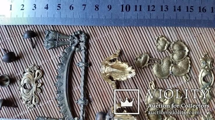 Накладки декоративні, латунь, фото №7
