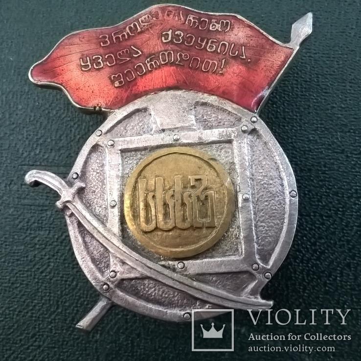 Орден Боевого Красного Знамени Грузинской ССР копия, фото №2