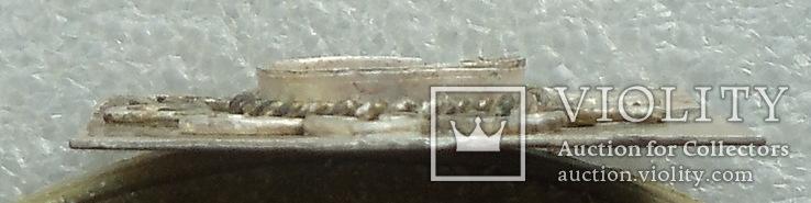 Фрагмент серебряного украшения -- узорчатая вставка под камень, фото №5