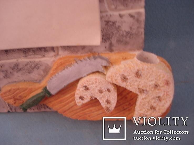 Плакетка кухонная настенная подарочная, записная книжка. Барельеф., фото №5