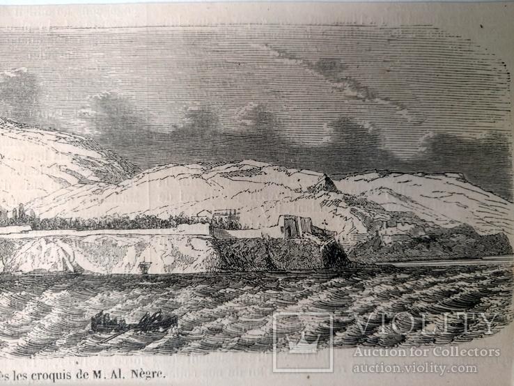 Монако, вид с моря. Архитектура, Гравюра (26х8,5), фото №6