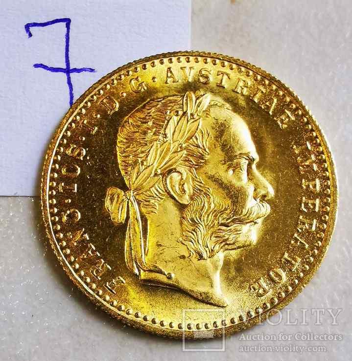 Дукат Австрия 1915 год рестрайк 3,49 грамм золота 986' (7), фото №2