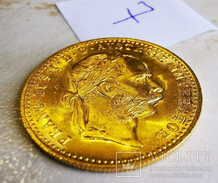 Дукат Австрия 1915 год рестрайк 3,49 грамм золота 986' (7), фото №3