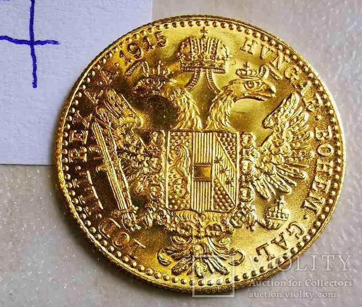 Дукат Австрия 1915 год рестрайк 3,49 грамм золота 986' (7), фото №4