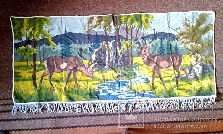 Декоративное настенное матерчатое полотно Олени, фото №2