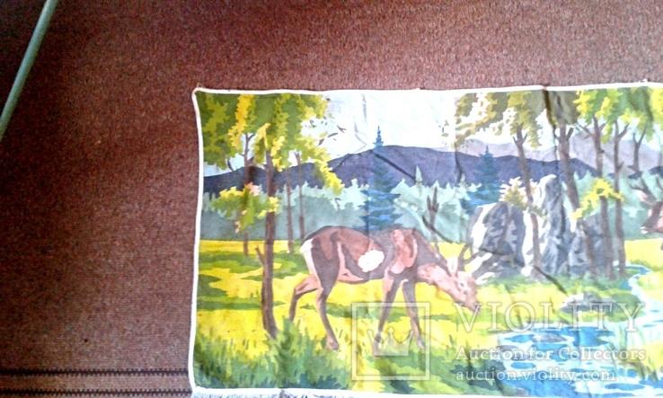 Декоративное настенное матерчатое полотно Олени, фото №3