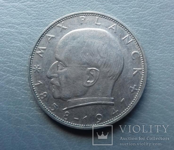 2 марки 1969 Німеччина Макс Планк, фото №2
