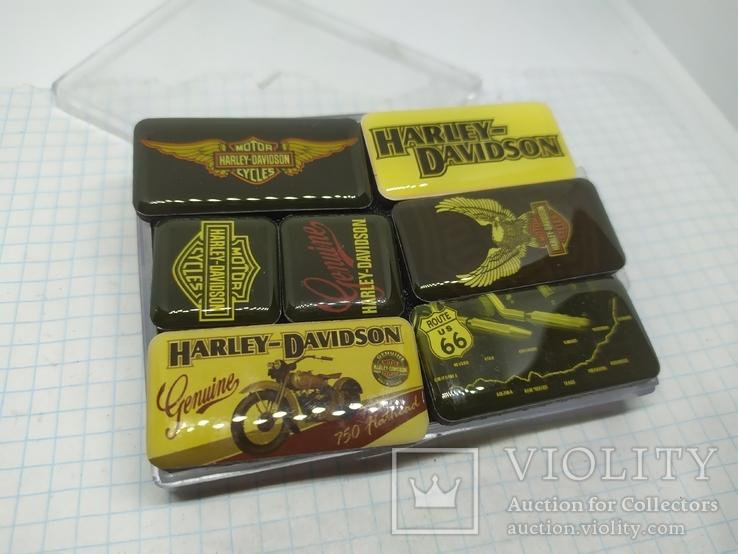 Комплект дизайнерских магнитов Harley Davidson. Байкер, фото №2