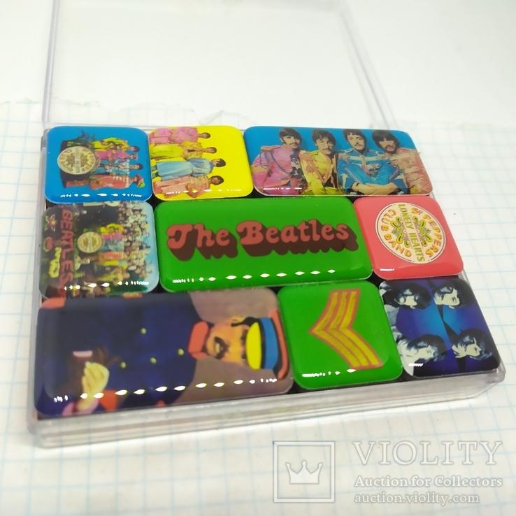 Комплект дизайнерских магнитов The Beatles, фото №2