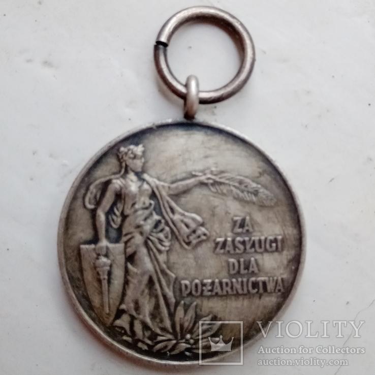 Медаль medal za zaslugi dla pozarnictwa 2 ст., фото №2