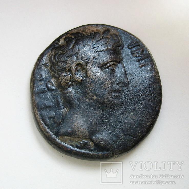 Октавиан Август, асс, Антиохия, АЕ (27 мм, 17,09 г)