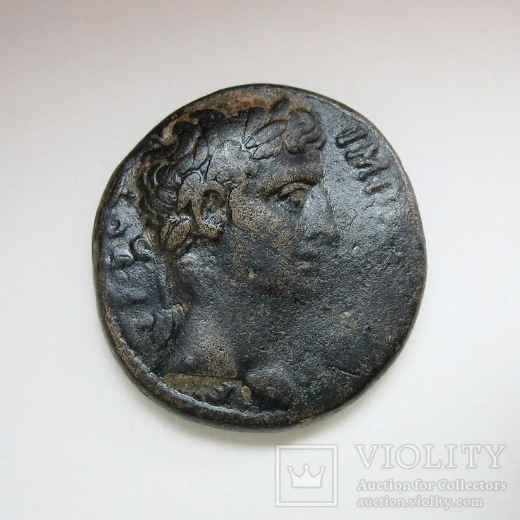 Октавиан Август, асс, Антиохия, АЕ (27 мм, 17,09 г), фото №4