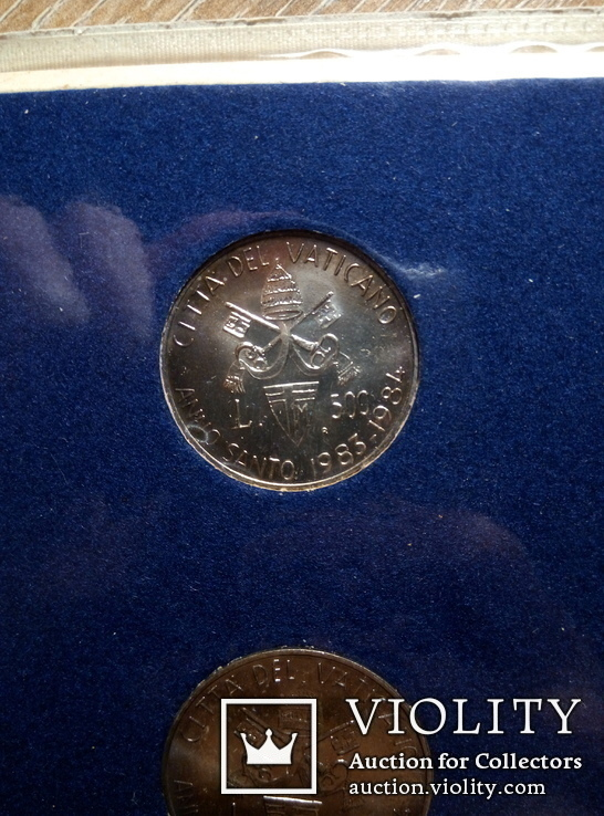 Ватикан 500 и 1000 лир (набор) 1983 - 1984 гг., фото №4