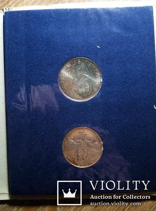 Ватикан 500 и 1000 лир (набор) 1983 - 1984 гг., фото №5