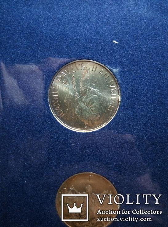 Ватикан 500 и 1000 лир (набор) 1983 - 1984 гг., фото №6