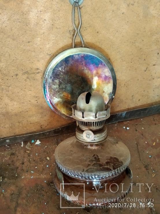 Керосиновая лампа стеклянная, фото №2