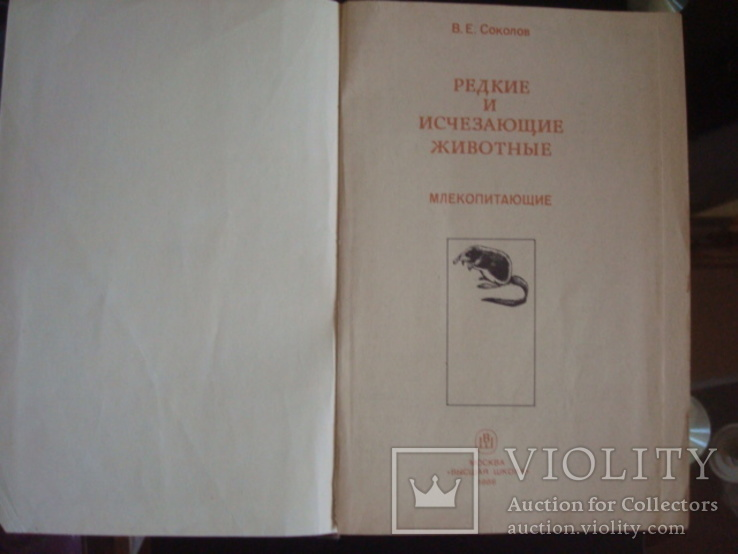 """""""Редкие и исчезающие животные"""" В.Соколов 1986г., фото №3"""