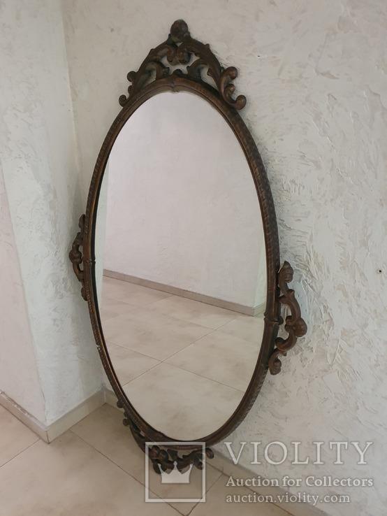 Старое большое зеркало. 131×80 см., фото №2