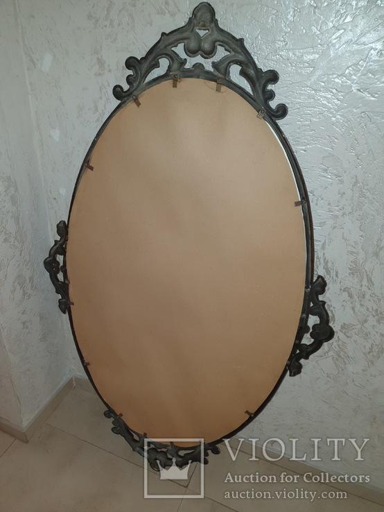 Старое большое зеркало. 131×80 см., фото №12