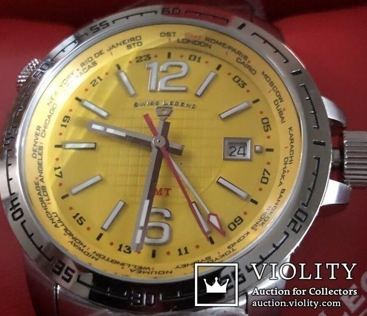 Swiss Legend Men's World Timer Swiss Made, фото №2