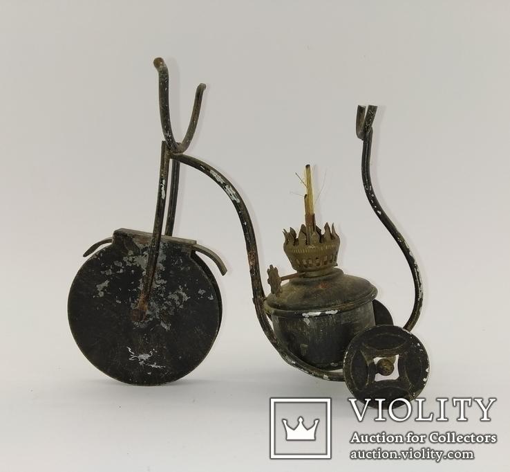 """Вінтажна гасова лампа """"Велосипед"""" арт. 0957, фото №2"""