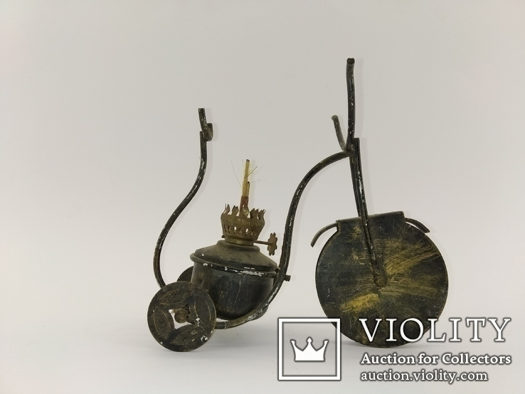 """Вінтажна гасова лампа """"Велосипед"""" арт. 0957, фото №4"""