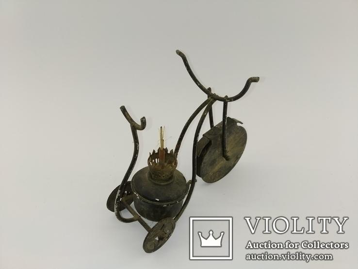 """Вінтажна гасова лампа """"Велосипед"""" арт. 0957, фото №5"""