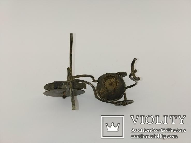 """Вінтажна гасова лампа """"Велосипед"""" арт. 0957, фото №7"""