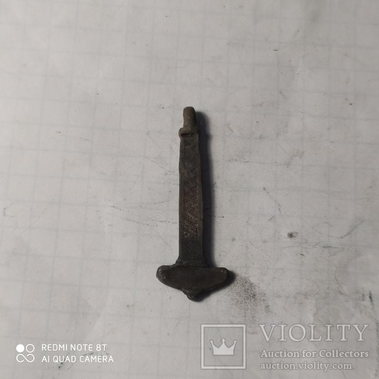 Амулет молот тора серебро копия, фото №4