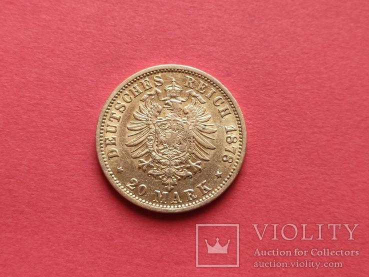 20 марок 1878 Гамбург