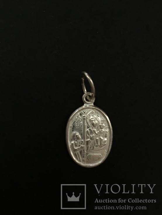 Иконка нательная серебряная, фото №3