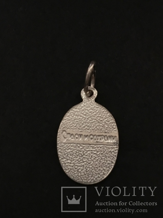 Иконка нательная серебряная, фото №4