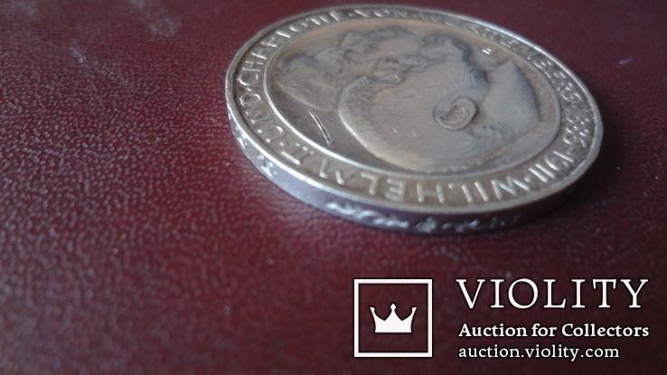3  марки  1911 Германия 25 лет свадьбе Вюртемберг  серебро    (8.3.14)~, фото №5