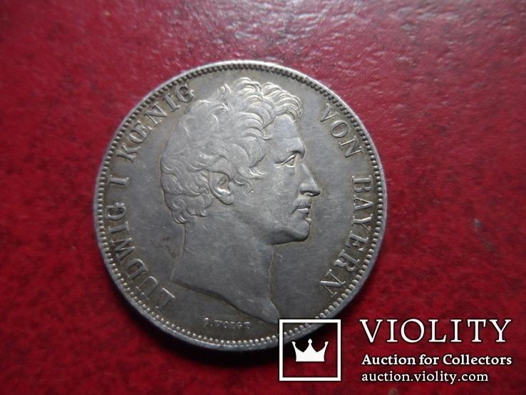 1 гульден  1839  Бавария  серебро    (А.1.27)~, фото №5