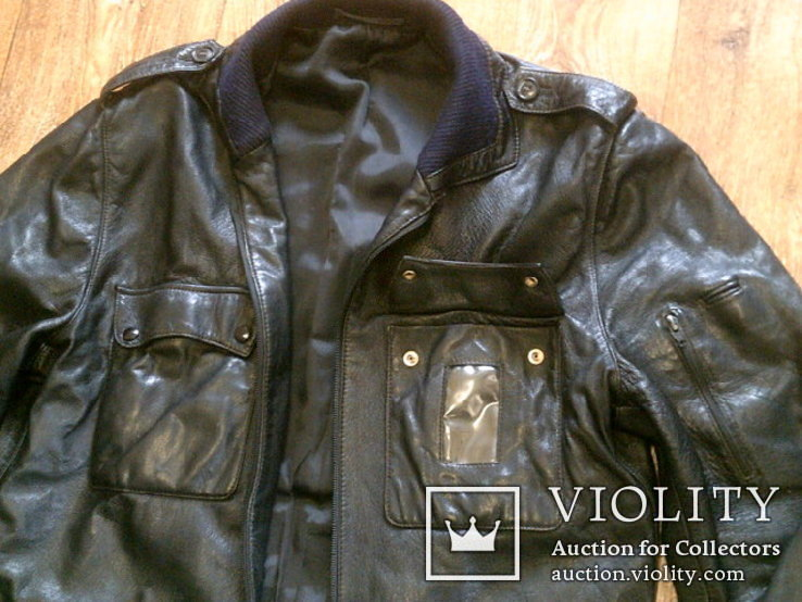 Куртка кожаная патрульная + свитер, фото №4