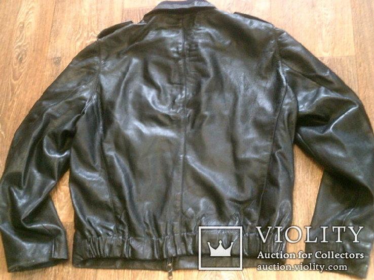 Куртка кожаная патрульная + свитер, фото №7