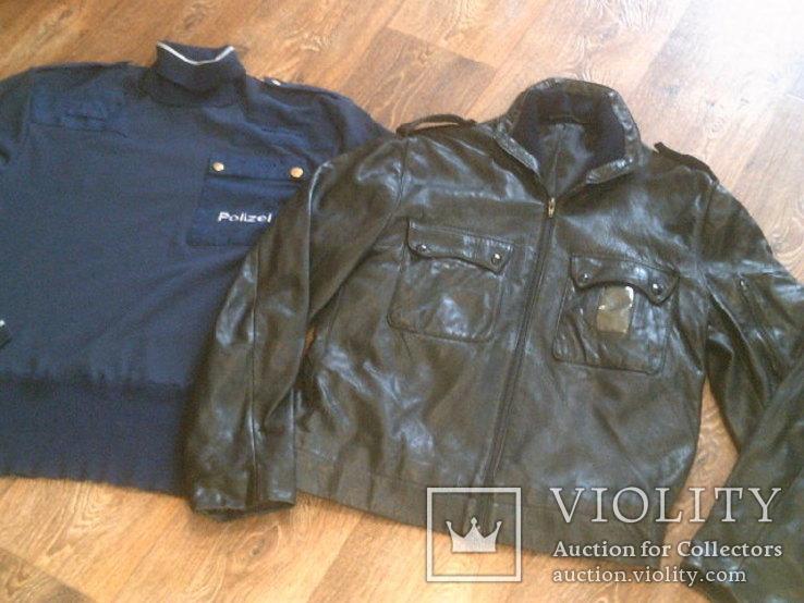 Куртка кожаная патрульная + свитер, фото №11