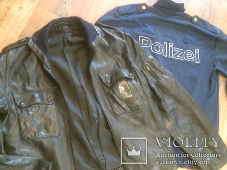 Куртка кожаная патрульная + свитер, фото №12